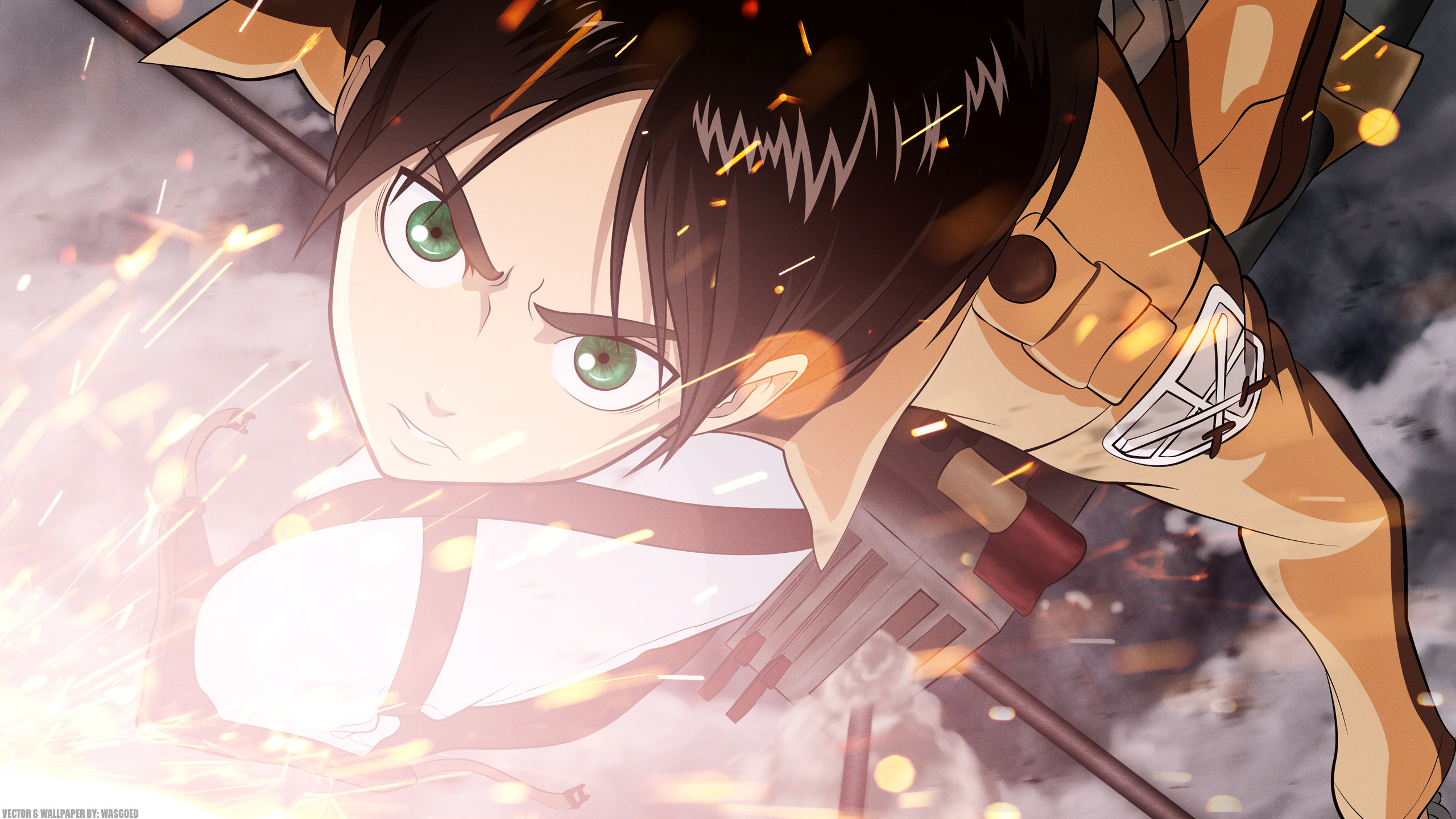 High resolution Eren Yeager hd 2560x1440 background ID:206863 for computer