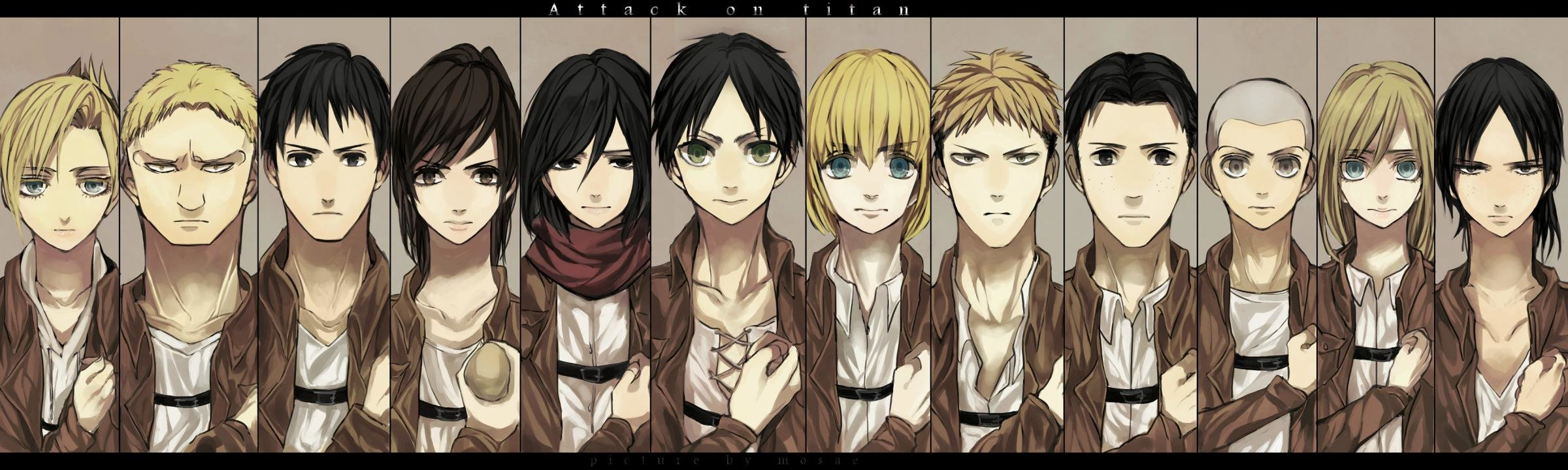 Awesome Attack On Titan free background ID:206831 for dual monitor 2400x720 desktop
