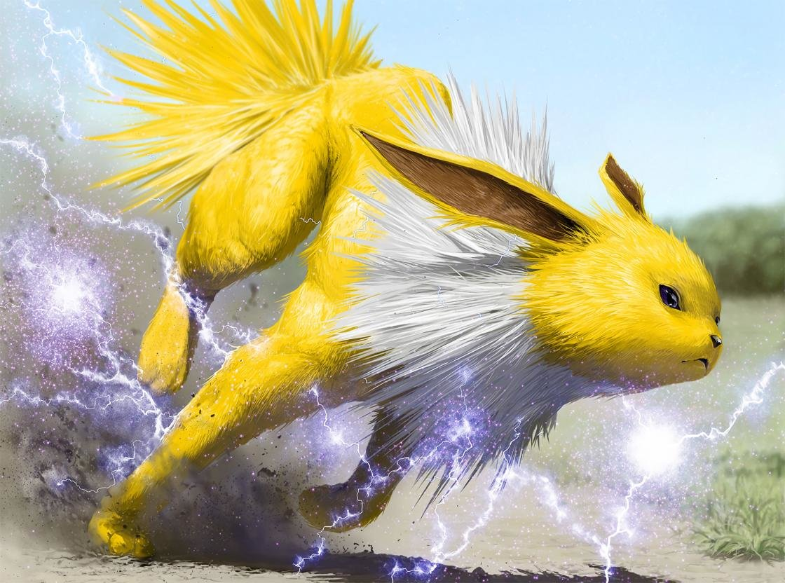 Download hd 1120x832 Jolteon (Pokemon) computer background ID:279012 for free