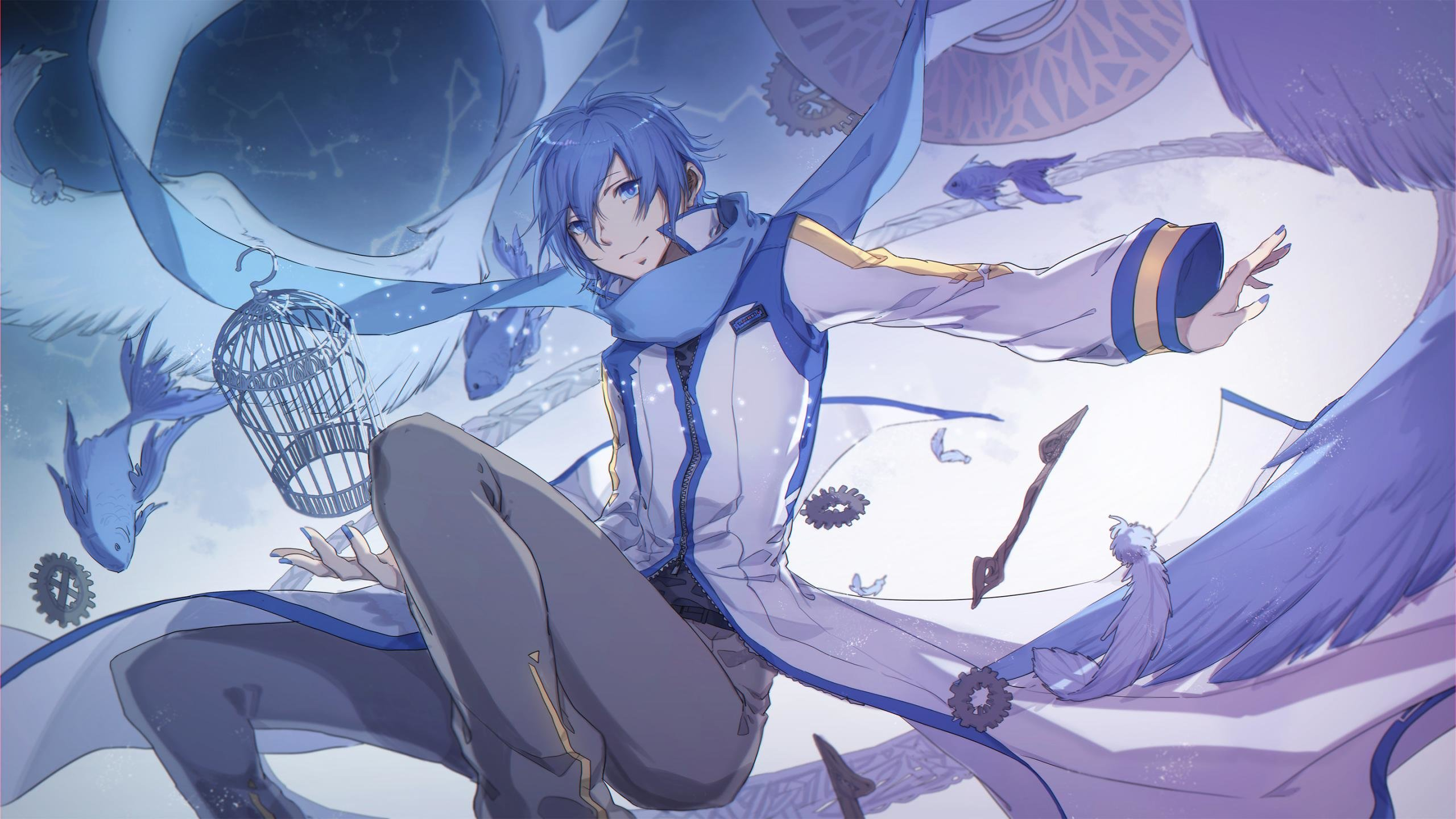 High resolution Kaito (Vocaloid) hd 2560x1440 wallpaper ID:2836 for PC