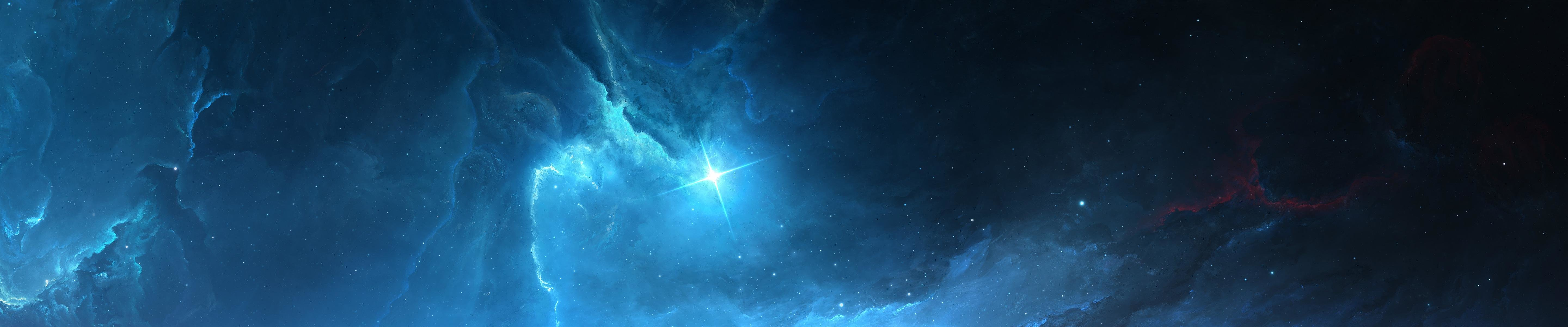 Free download Nebula background ID:91630 triple monitor 5760x1200 for PC