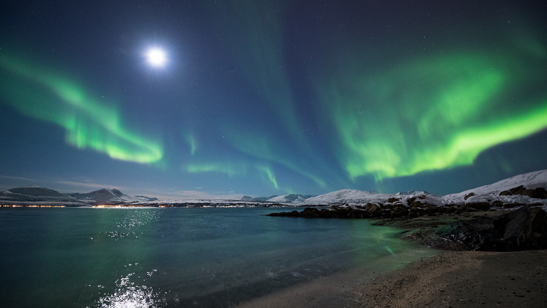 high resolution aurora borealis full hd 1920x1080 wallpaper id