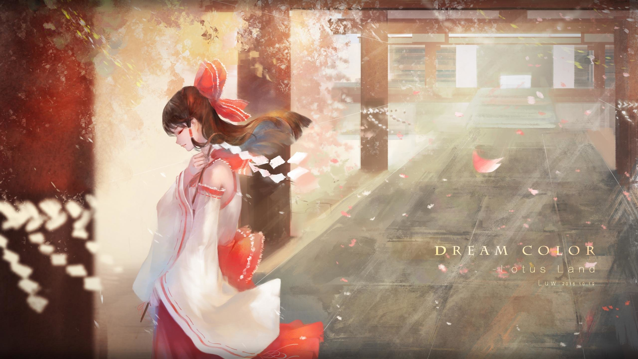 Free Reimu Hakurei high quality background ID:221101 for hd 2560x1440 desktop