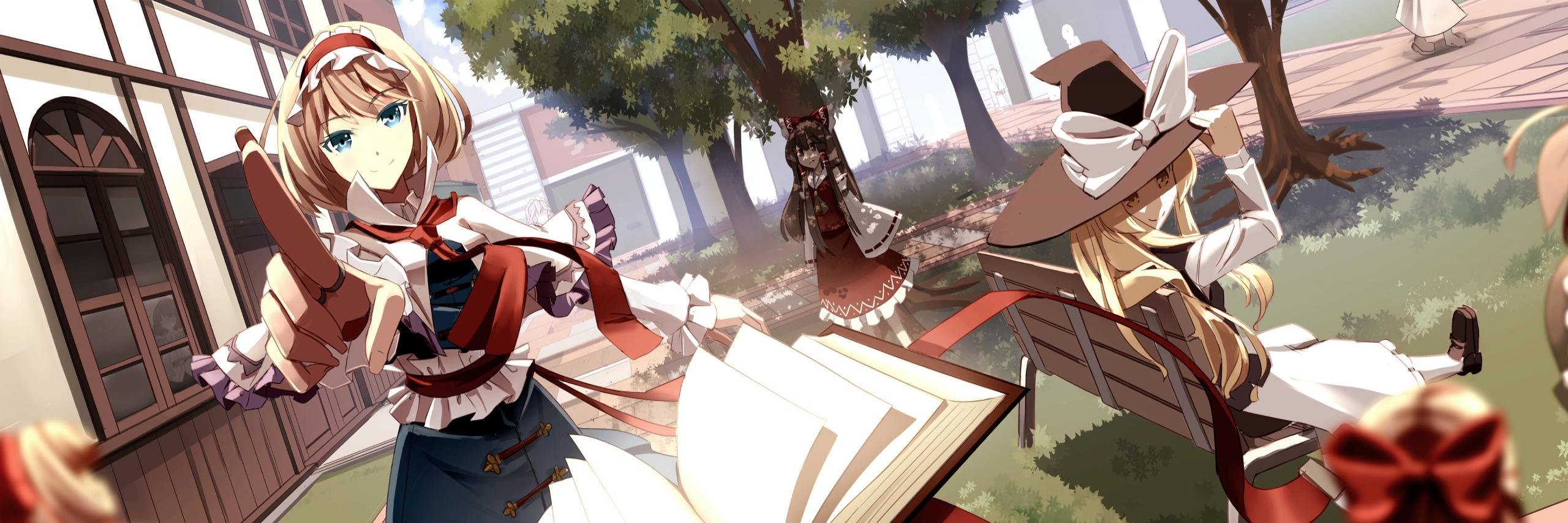 Awesome Touhou free background ID:222451 for dual screen 2560x854 PC