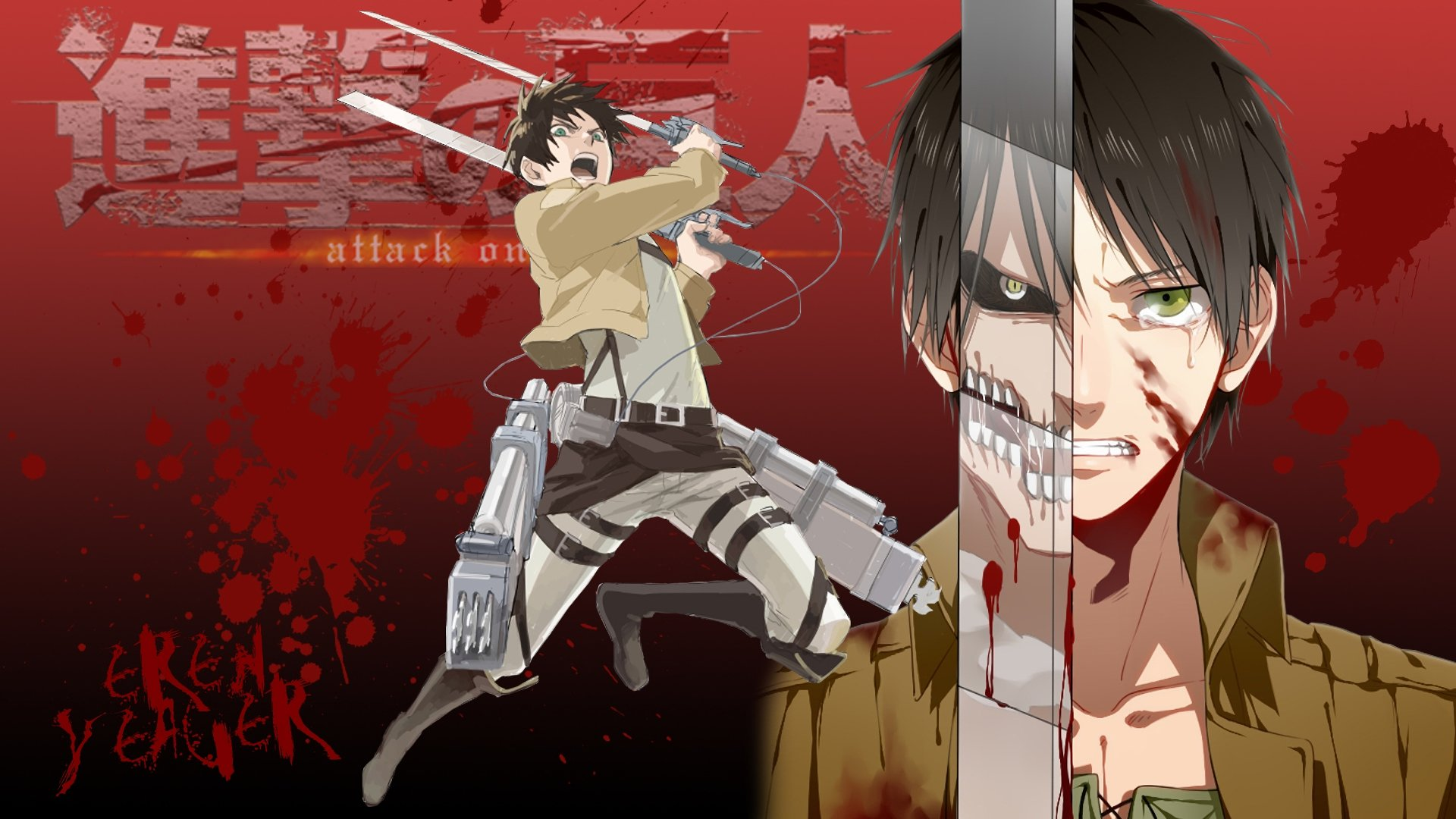 Download Hd 1080p Eren Yeager Desktop Wallpaper Id 206660