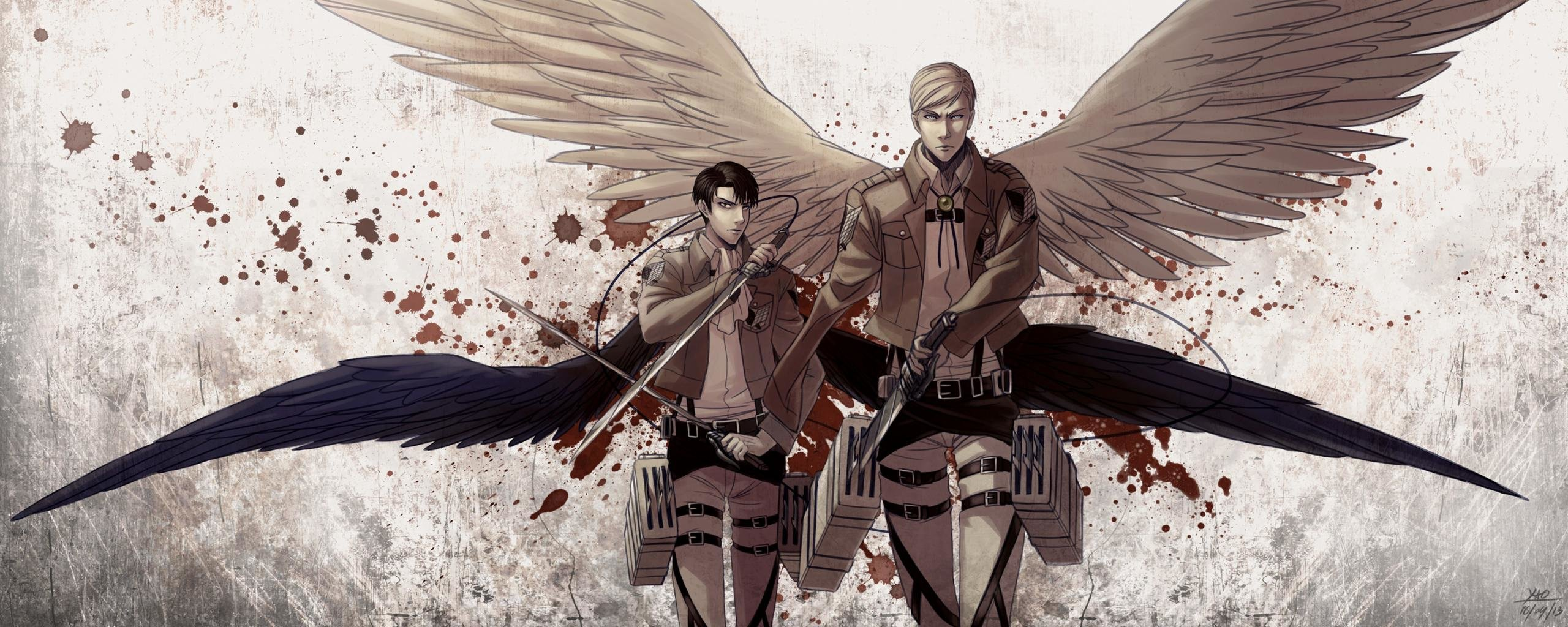 Dual Monitor Attack On Titan Wallpapers Hd Backgrounds