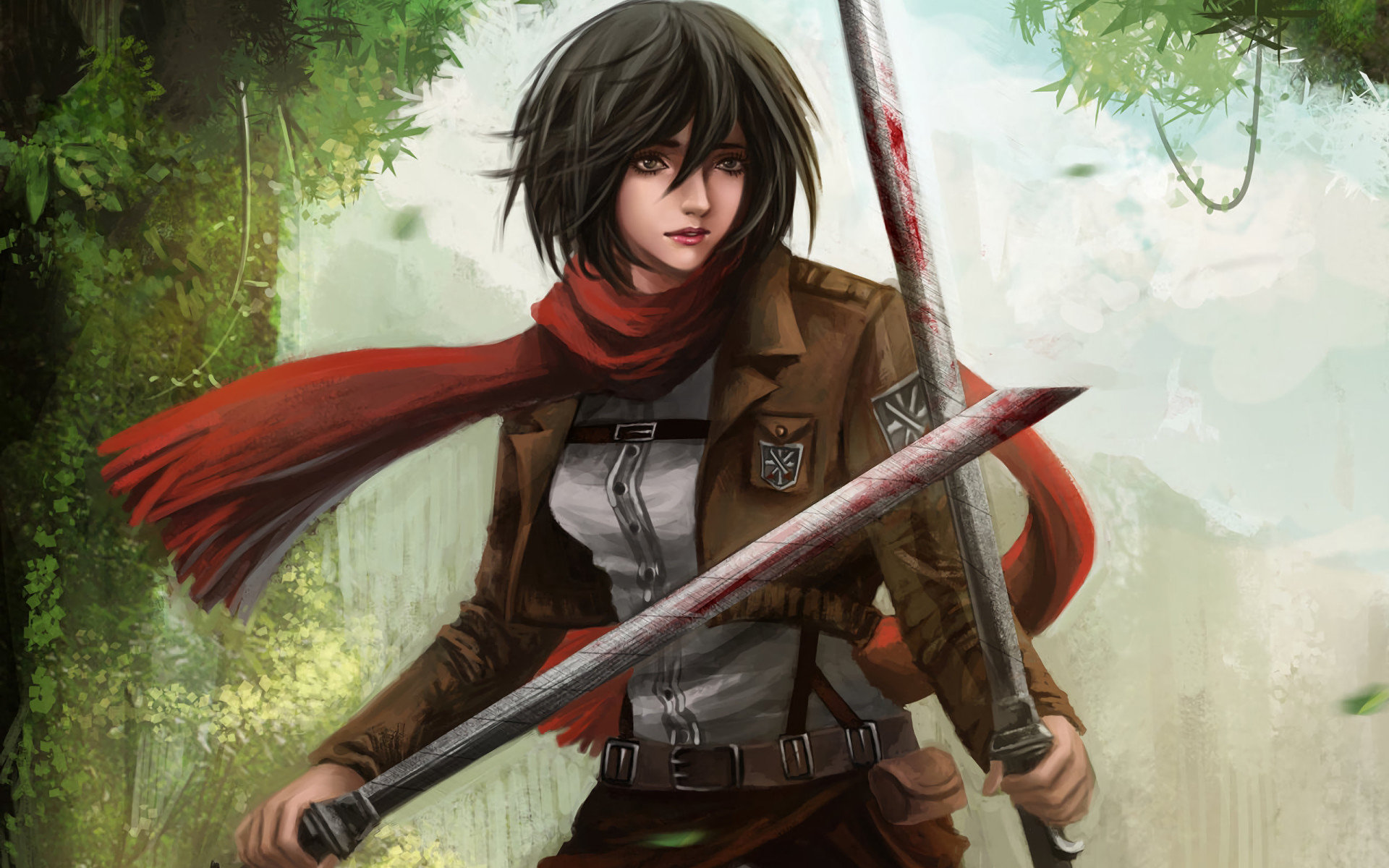 Free Mikasa Ackerman high quality background ID:206476 for hd 1920x1200 computer