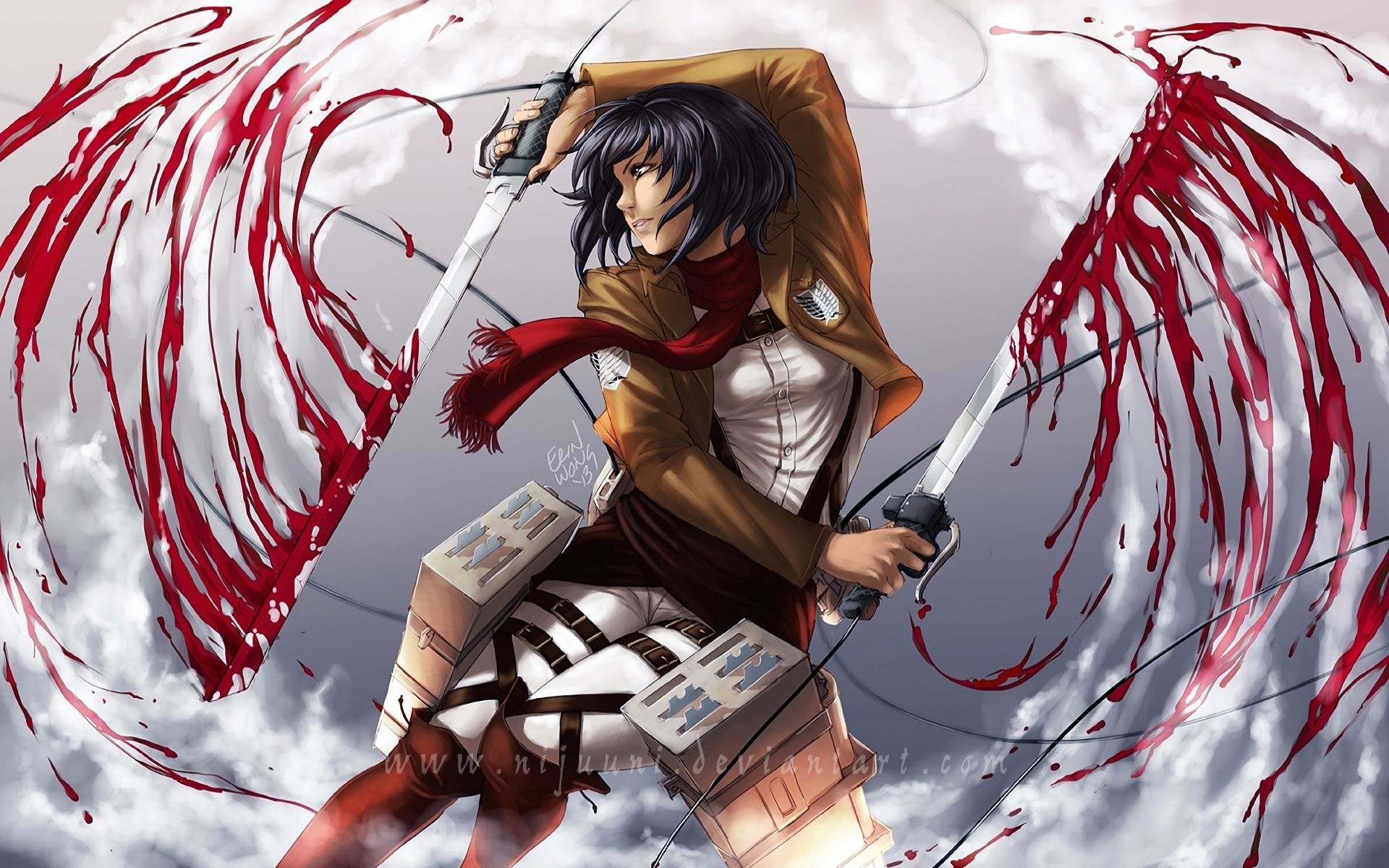 Awesome Mikasa Ackerman free background ID:206478 for hd 1920x1200 PC
