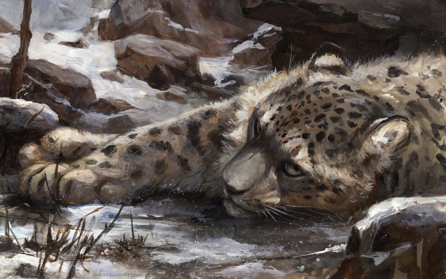 Free Snow Leopard high quality wallpaper ID:34475 for hd 1440x900 PC