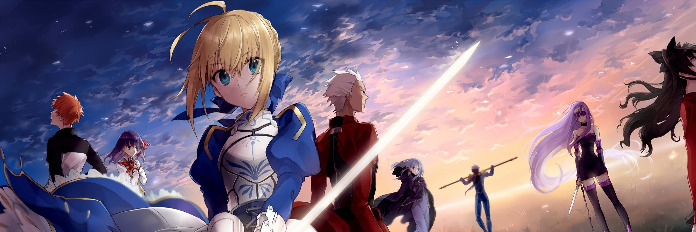Dual Monitor Fate Stay Night Wallpapers Hd Backgrounds