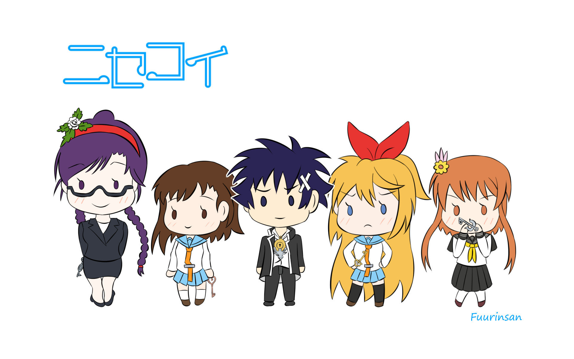 Download hd 1920x1200 Nisekoi computer wallpaper ID:323643 for free