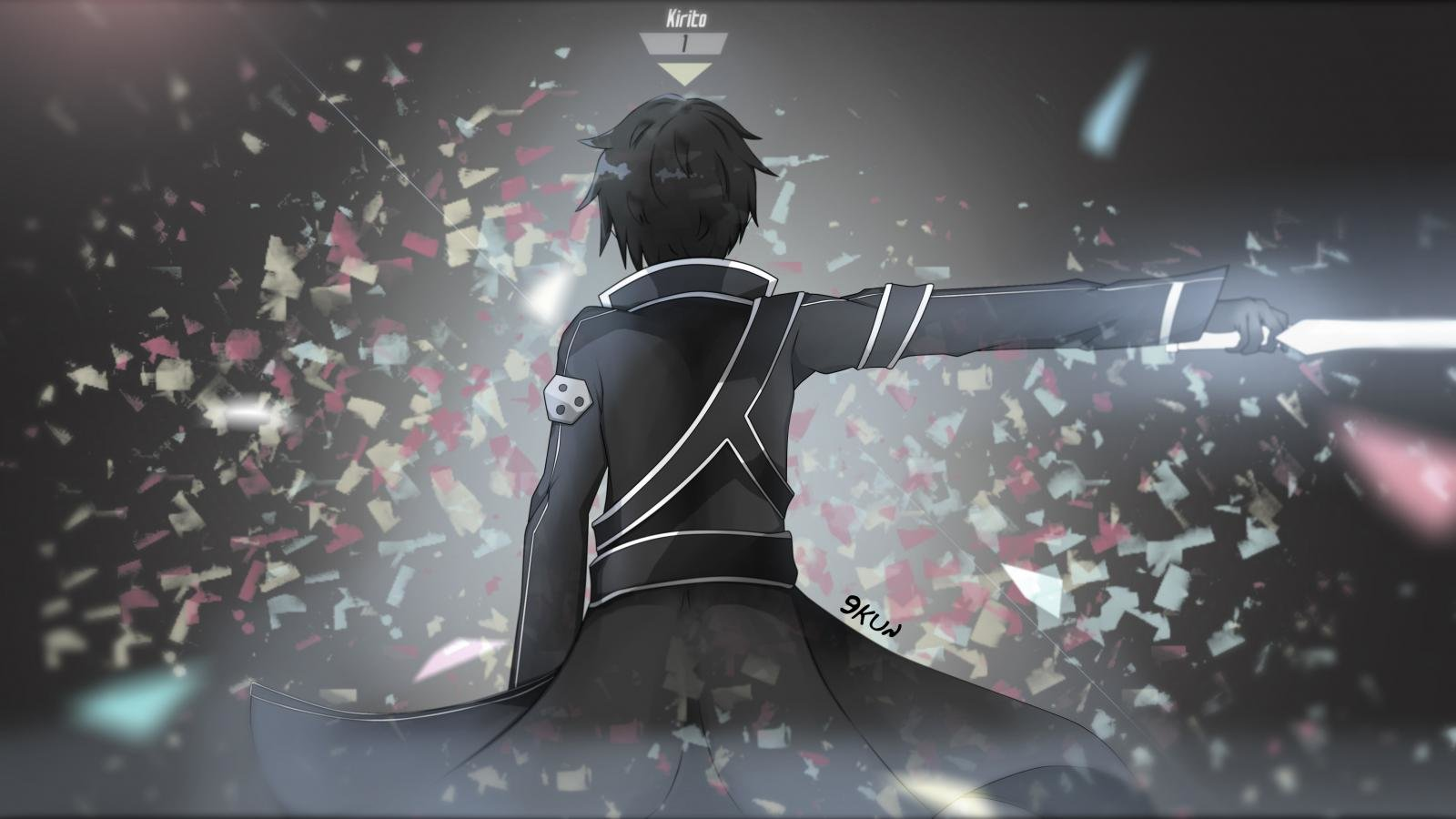 Free download Kirito (SAO) wallpaper ID:181112 hd 1600x900 for PC