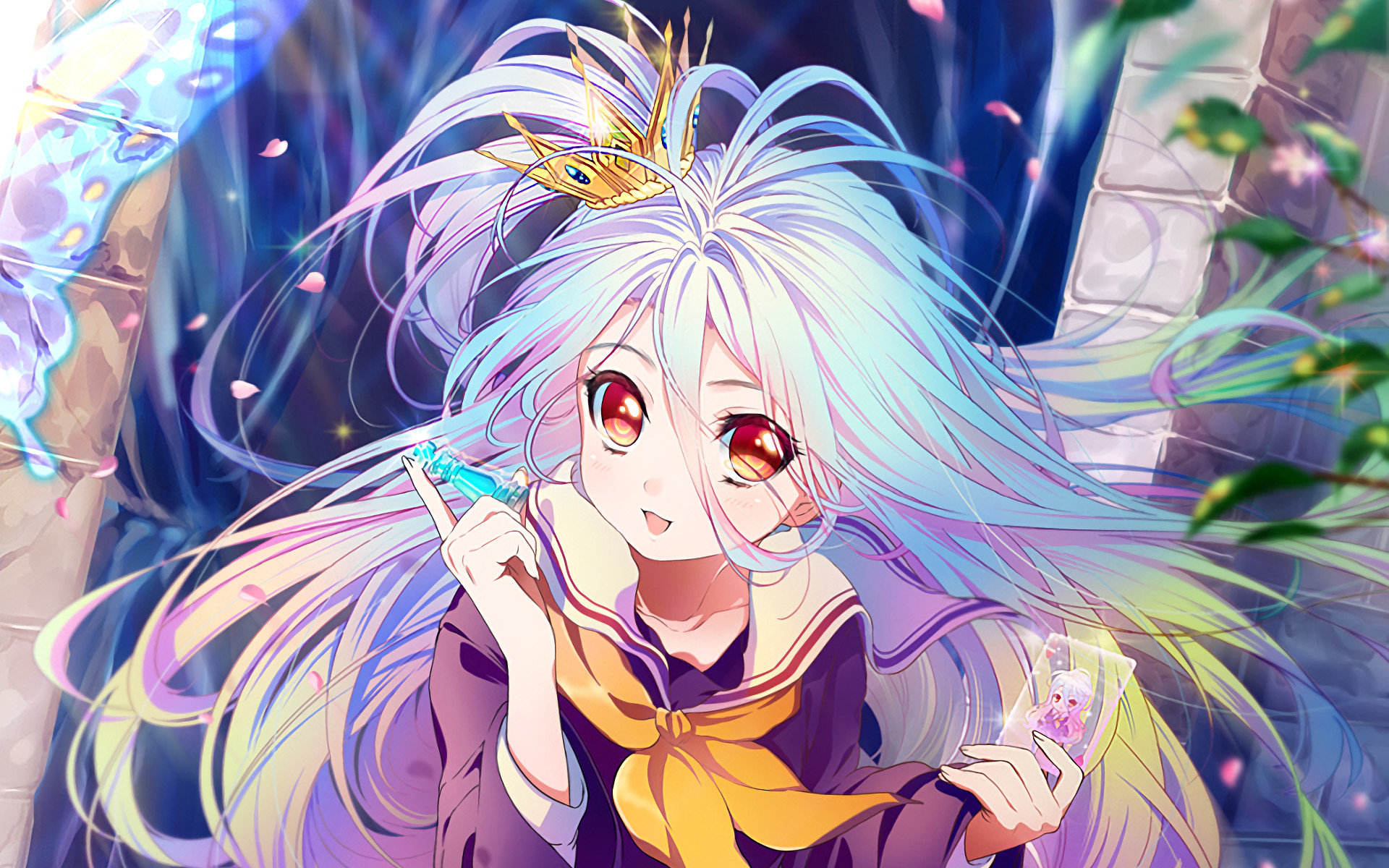 Free Shiro (No Game No Life) high quality background ID:102564 for hd 1920x1200 PC