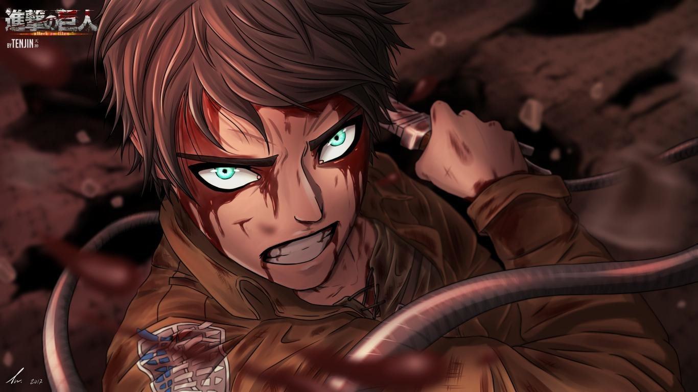 High resolution Eren Yeager laptop background ID:206619 for PC