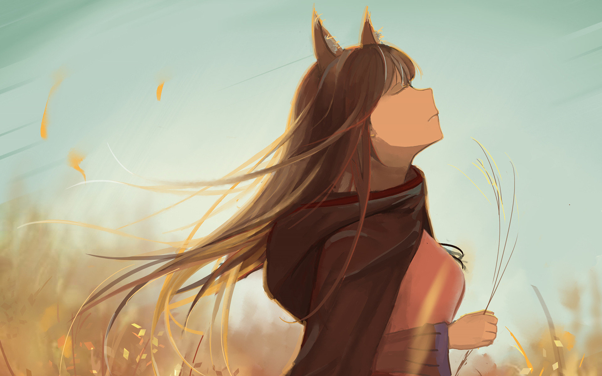 Best Holo Spice Wolf Wallpaper ID399640 For High Resolution Hd 1920x1200