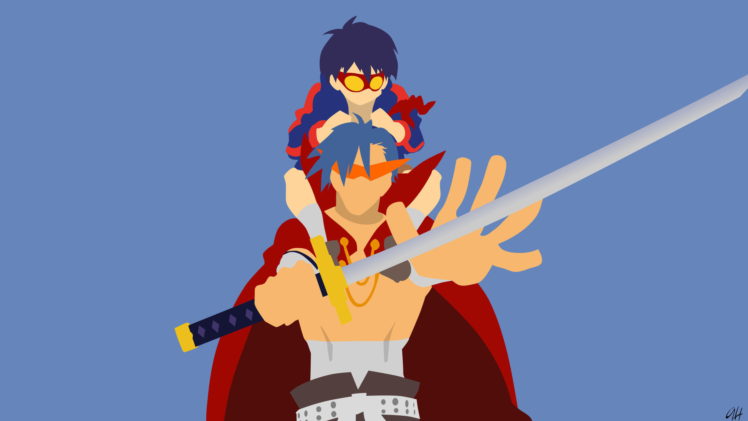 Free download Tengen Toppa Gurren Lagann wallpaper ID:387769 hd 2560x1440 for PC