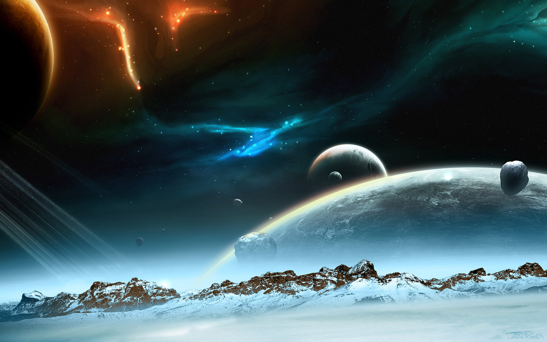 Download hd 1920x1200 Planet Rise PC background ID:193665 for free