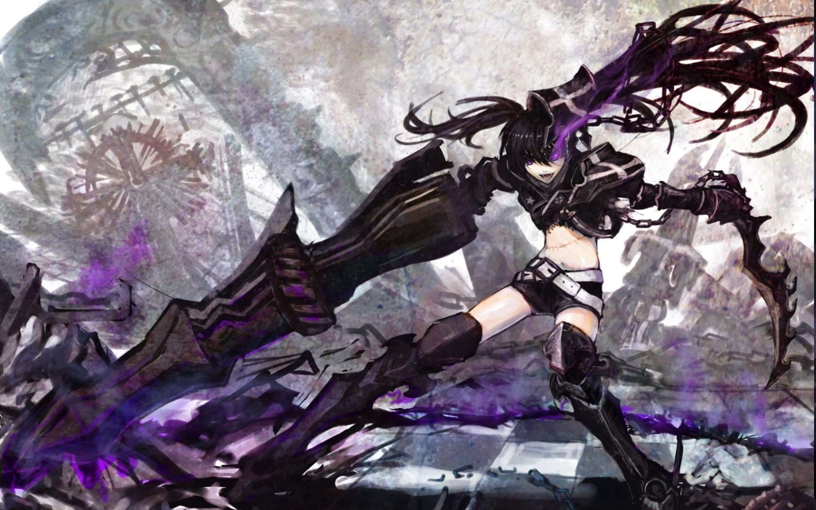 High resolution Black Rock Shooter hd 1680x1050 background ID:454971 for computer