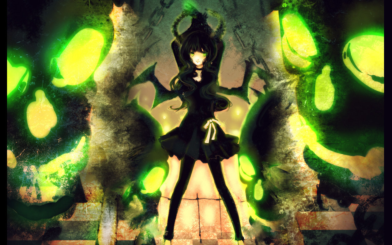 Free download Dead Master (Black Rock Shooter) background ID:454686 hd 1280x800 for PC