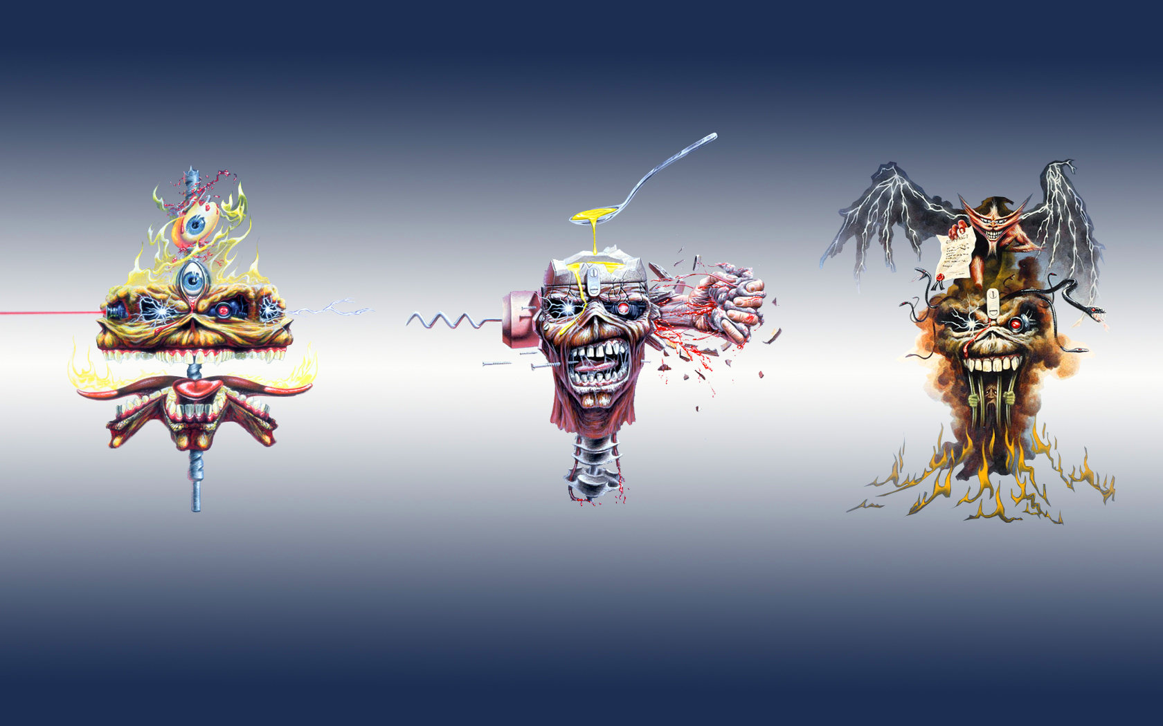 Download hd 1680x1050 Iron Maiden desktop background ID:72472 for free