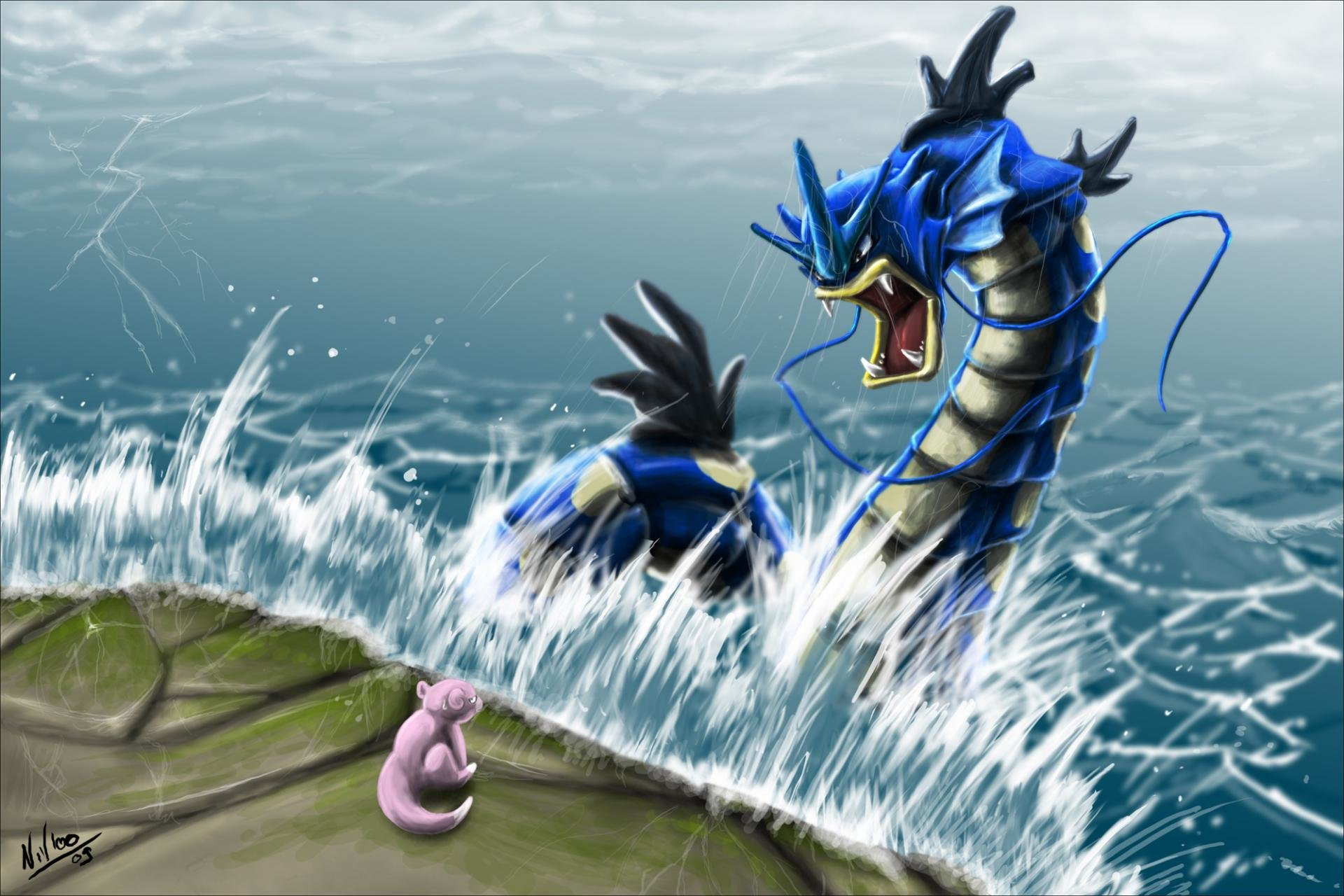 Download hd 1920x1280 Gyarados (Pokemon) PC background ID:280174 for free