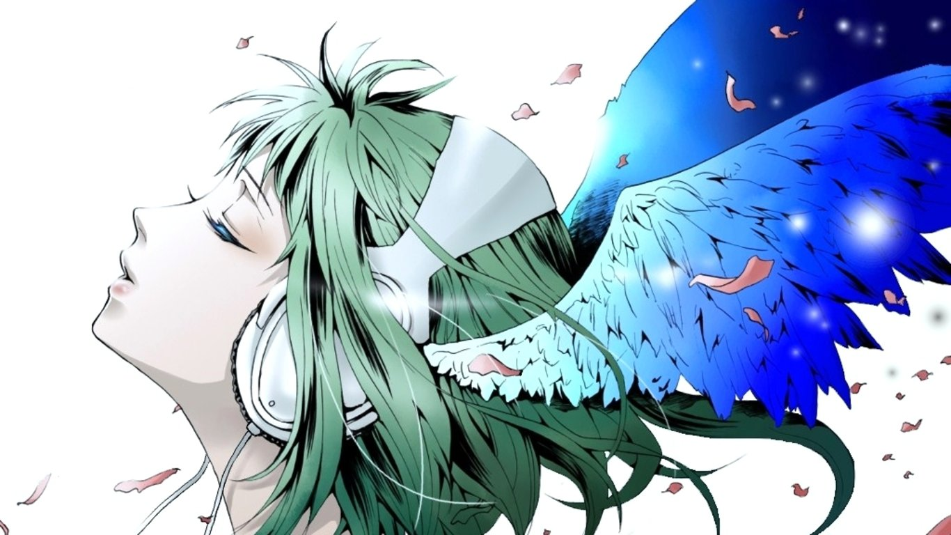 Free GUMI (Vocaloid) high quality background ID:1368 for 1366x768 laptop PC