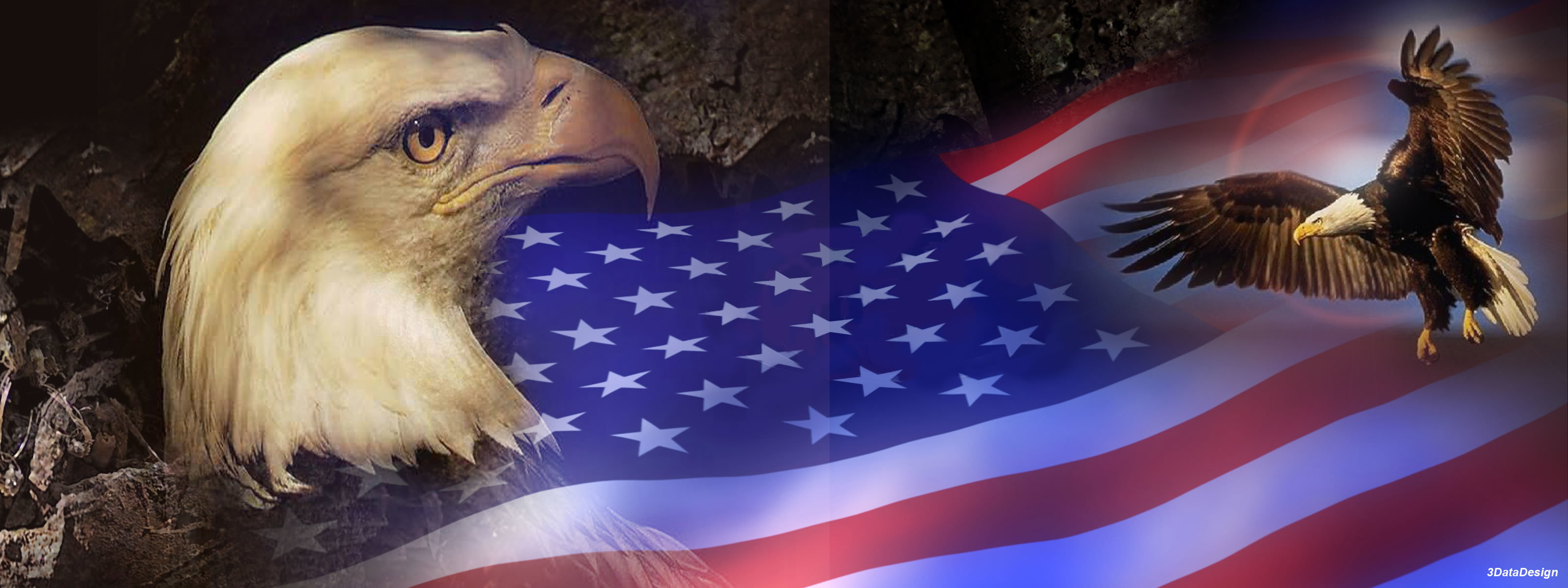 Awesome Patriotic free wallpaper ID:171 for dual monitor 3200x1200 desktop